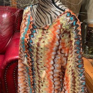 rancho estancia Tops - Multicolor tie-dye top